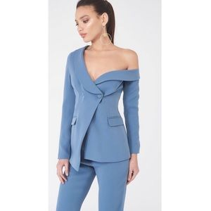 Lavish Alice Fitted Blazer Off the Shoulder